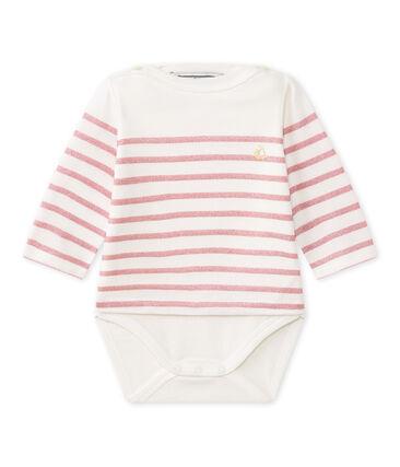 Questo Body marinière a maniche lunghe per bebé femmina