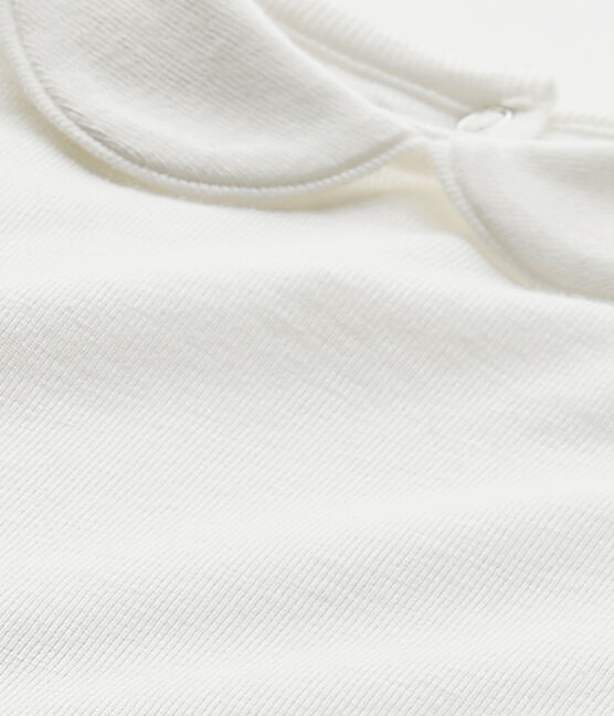 Body per bebè femmina con colletto bianco Marshmallow
