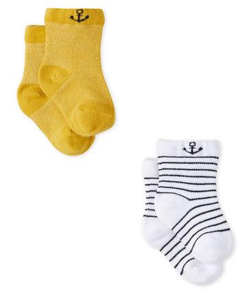 Confezione da 2 paia di calzini leggeri bebè maschio