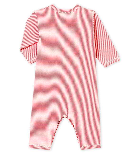 Tutina senza piedini per bebé femmina rosa Cheek / bianco Marshmallow