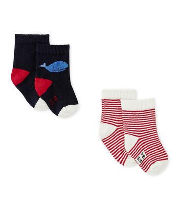 Lotto di due paia di calze per bebé maschio