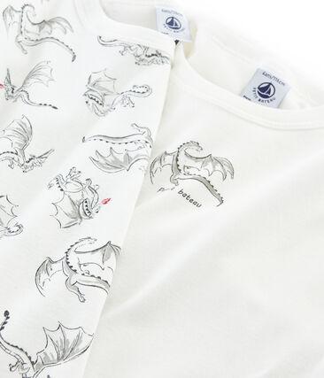 Duo t-shirt maniche lunghe bambino lotto .