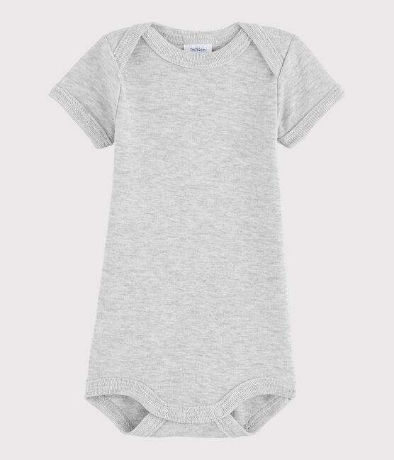 Body manica corta bebè maschietto grigio Beluga Chine