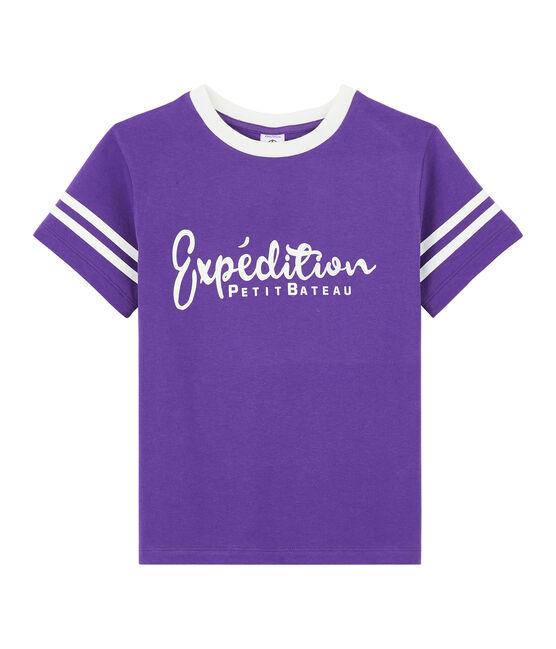 T-shirt bambino viola Real