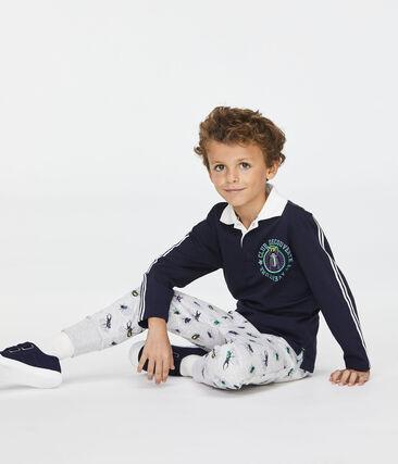 Pantalone da bambino grigio Poussiere / bianco Multico