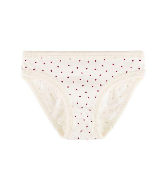 Slip bambina bianco Marshmallow / rosso Clafouti
