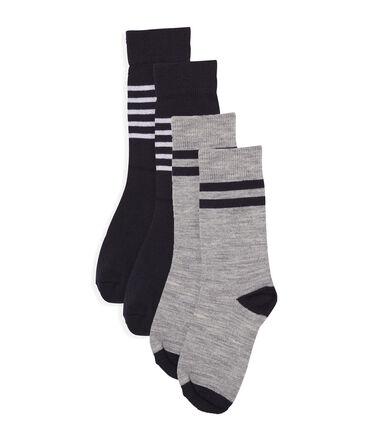 Confezione da 2 paia di calzini alti e caldi bambino lotto .