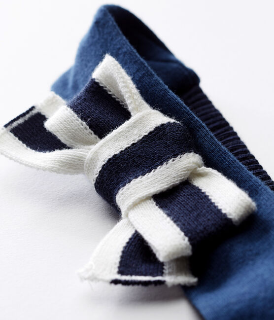 Fascia capelli bebè femmina blu Smoking / bianco Marshmallow