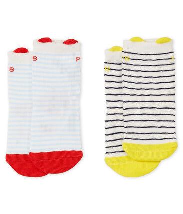 Set di 2 paia di calzini bebè bambino lotto .