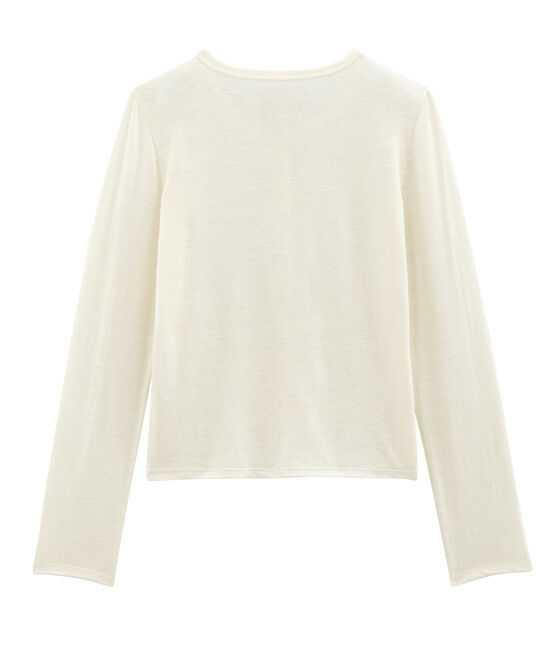 Cardigan donna in lino bianco Marshmallow