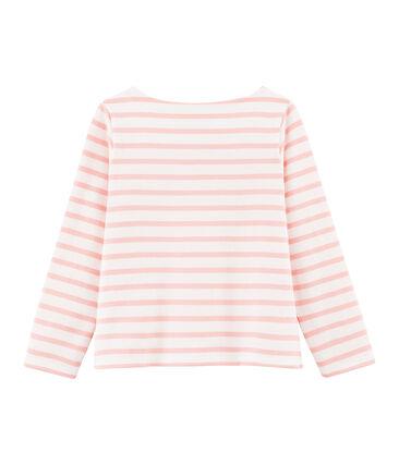 Maglia alla marinara con fiocco bambina bianco Marshmallow / rosa Patience