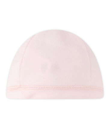 Cappellino nascita in ciniglia per bebé unisex rosa Vienne