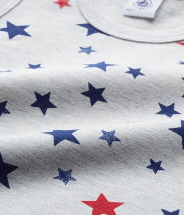 Canotta per bambino con stampa in jersey stretch grigio Beluga / bianco Multico