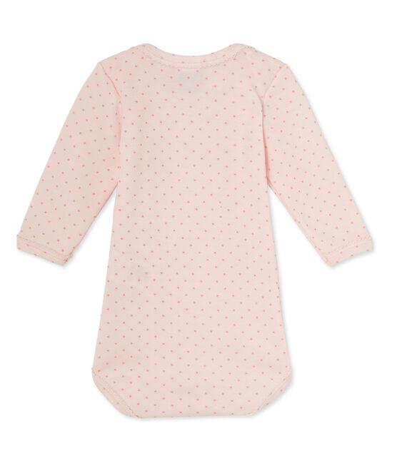 Tutina bebè bambina maniche lunghe in lana e cotone rosa Vienne / rosa Gretel