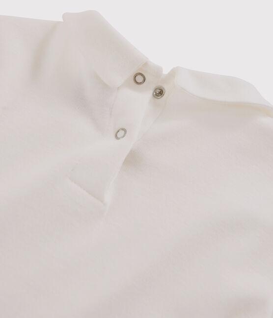 T-shirt maniche lunghe in cotone bambina bianco Marshmallow