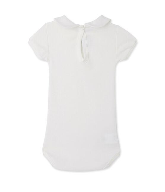 Body per bebè femmina con colletto bianco Lait