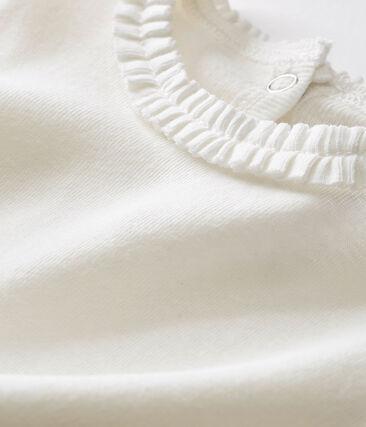 Blusa per bebé femmina tinta unita