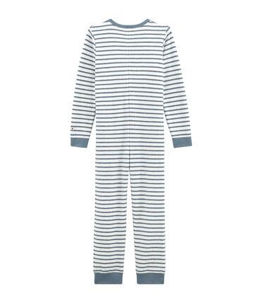 Pigiama intero loungewear per bambino bianco Marshmallow / blu Astro