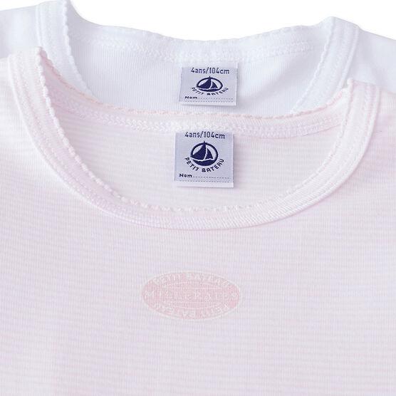 Lotto di 2 t-shirts per bambina lotto .