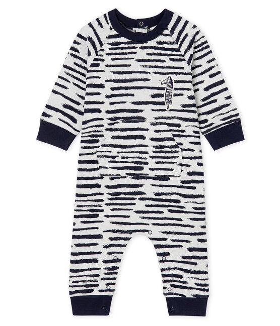 Tutina lunga da bebè maschio Jean Jullien MARSHMALLOW/DASH