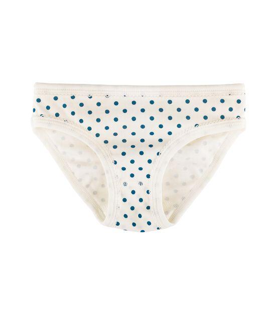 Slip bambina bianco Marshmallow / blu Contes