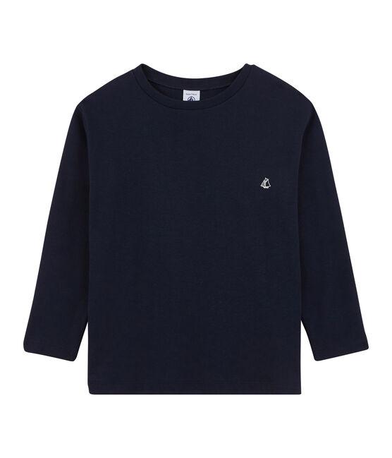 T-shirt a maniche lunghe bambino blu Smoking