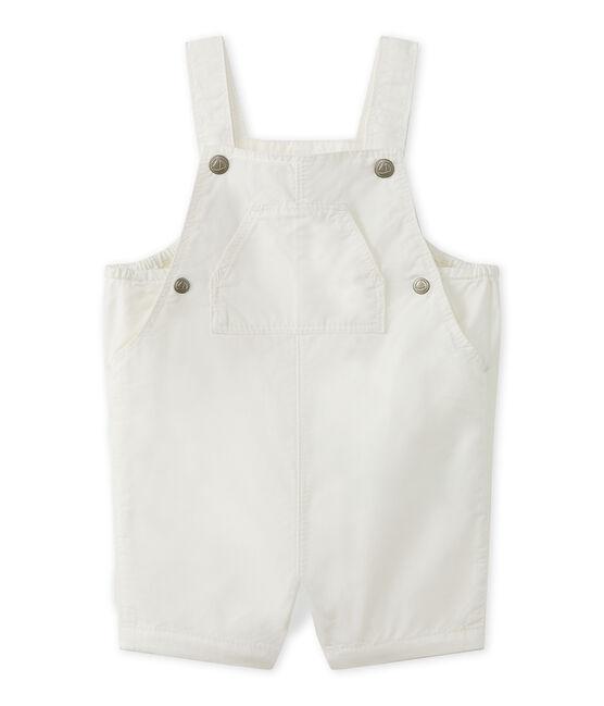 Salopette corta per bebè maschio bianco Marshmallow