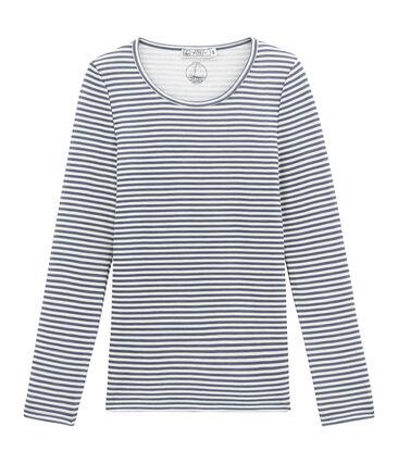 tee-shirt donna maniche lunghe in lana e cotone
