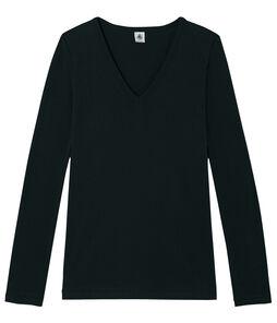 T-shirt manica lunga iconica donna nero Noir