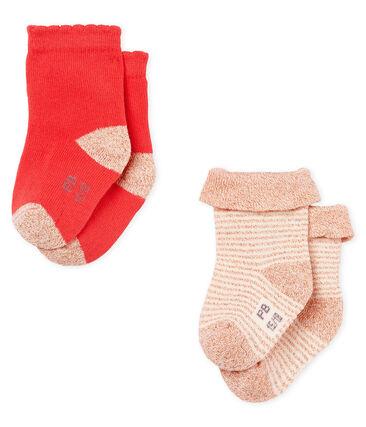 Lotto da 2 paia di calzini bebè femmina lotto .