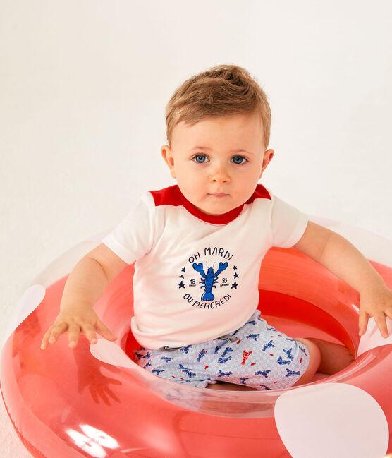 Short bebè maschio fantasia bianco Marshmallow / bianco Multico