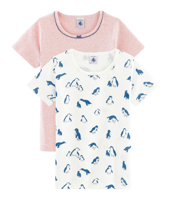 Duo t-shirt bambina maniche corte lotto .