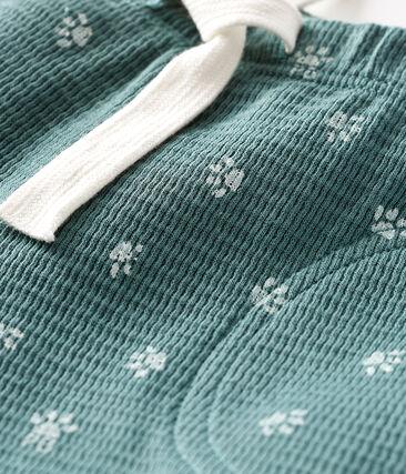 Pantalone bebè maschietto blu Brut / bianco Marshmallow