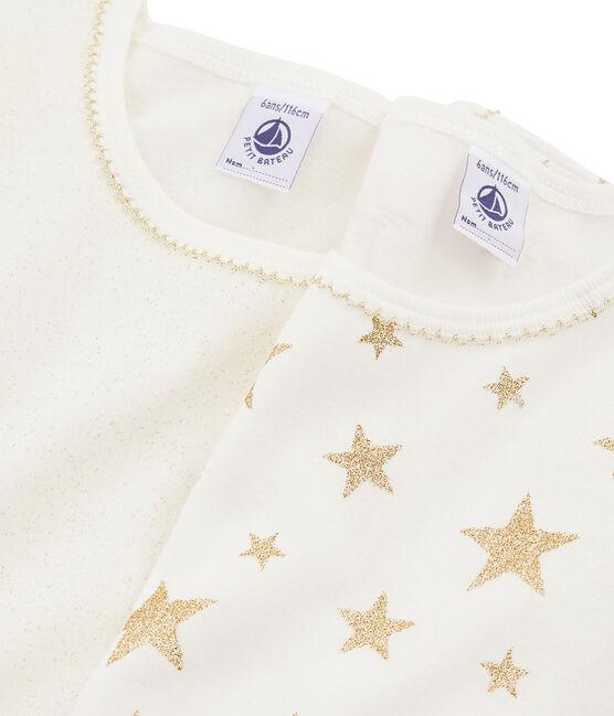 Duo t-shirt maniche lunghe bambina lotto .