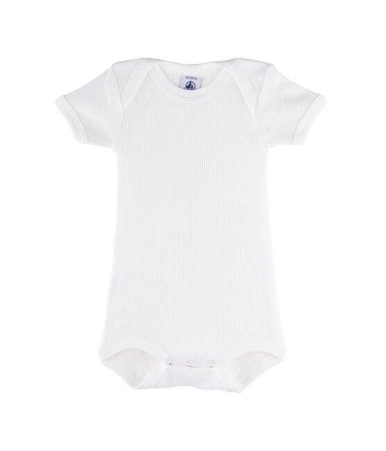 Body manica corta bebè femmina - maschio bianco Ecume