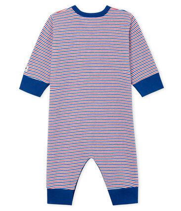 Tutina pigiama senza piedi bambino a costine