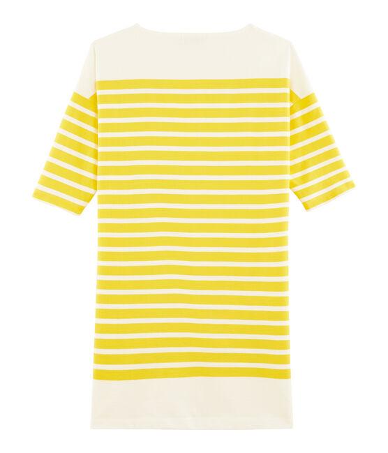 Abito donna giallo Shine / bianco Marshmallow
