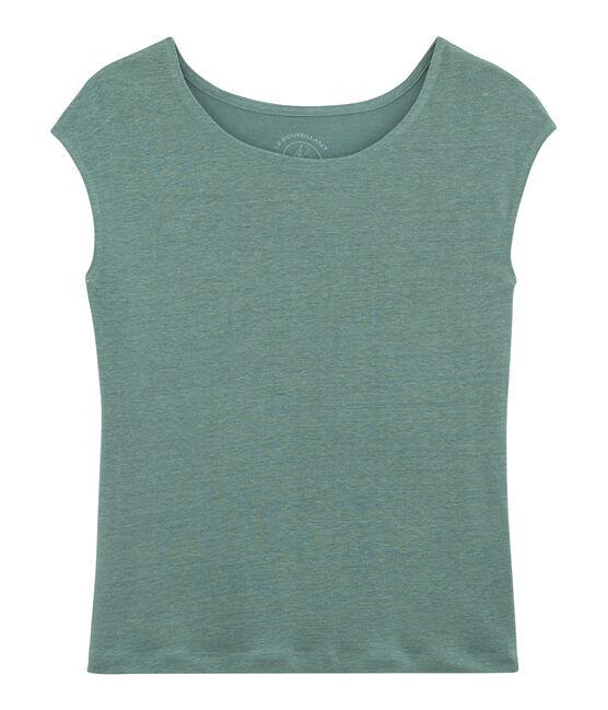 T-shirt in lino donna blu Brut