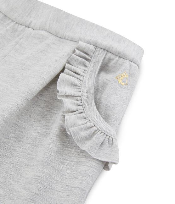 Pantalone in maglia bambina grigio Beluga