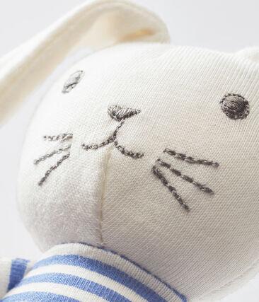 Coudou coniglietto sonaglio bebè unisex blu Smoking / bianco Marshmallow