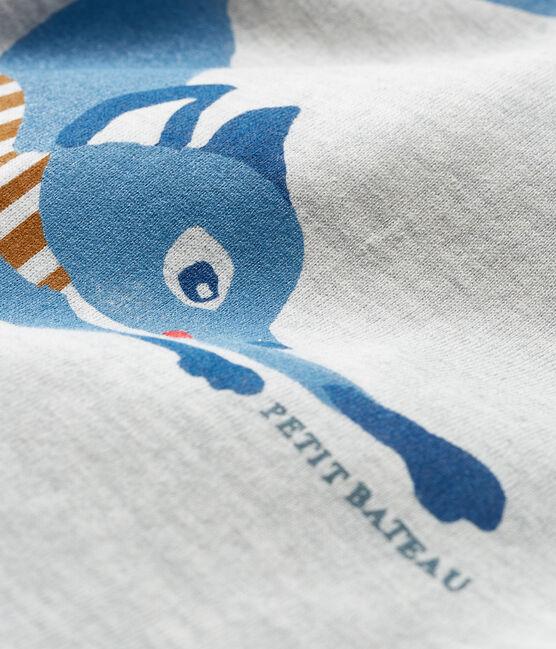 T-shirt a manica lunga bebè maschio grigio Beluga