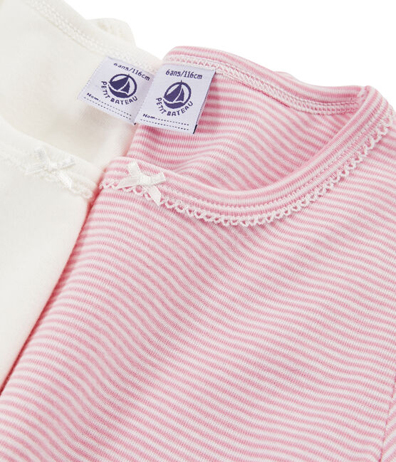 Confezione da 2 t-shirt bambina lotto .