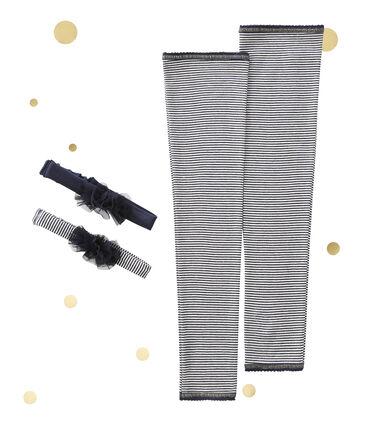 Scaldamuscoli e fascia per capelli per bambina Petit bateau x Marie-Agnès Gillot lotto .