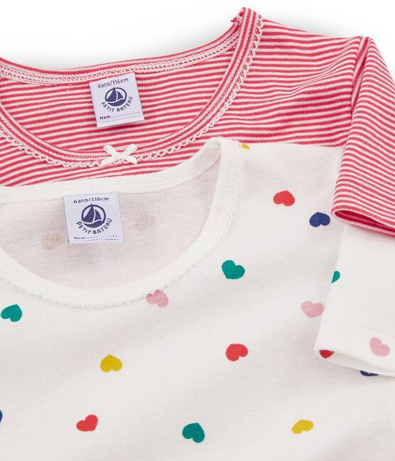 Duo t-shirt bambina maniche corte lotto .