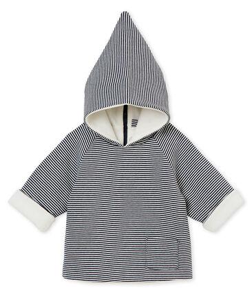 Giacca per bebé maschio rivestita in pile blu Smoking / bianco Marshmallow