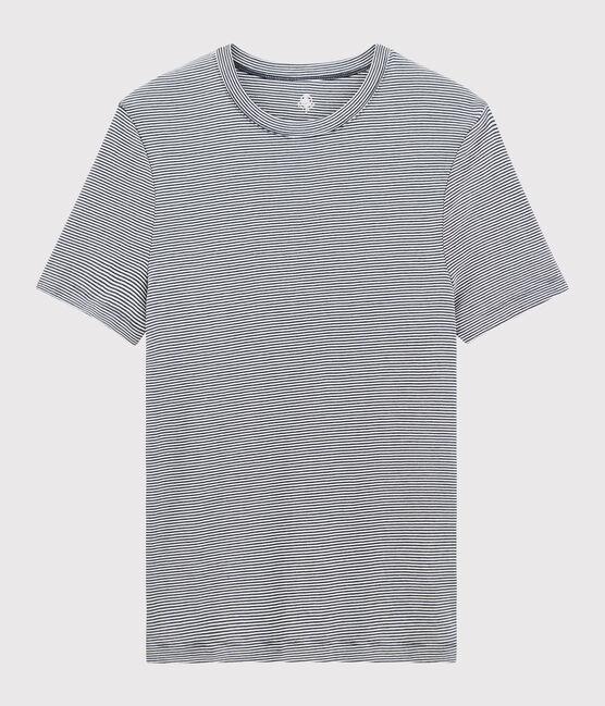 T-shirt maniche corte Uomo blu Smoking / bianco Marshmallow