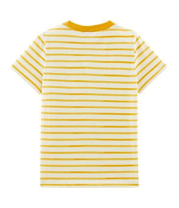 T-shirt bambino maniche corte beige Coquille / giallo Boudor