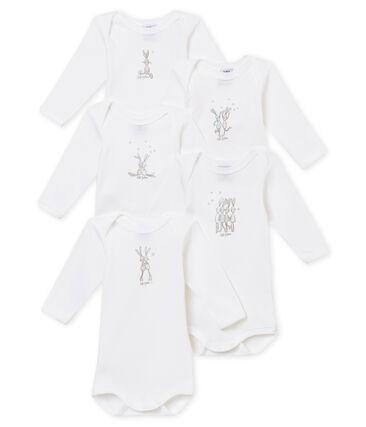 Lotto di 5 bodies a maniche lunghe per bebé unisex lotto .