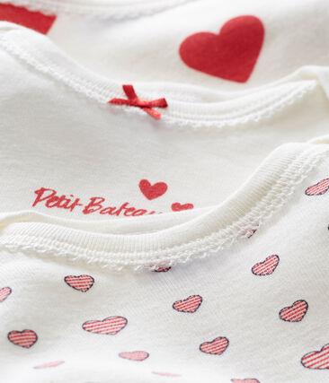 Lotto di 3 bodies a maniche corte per bebé femmina