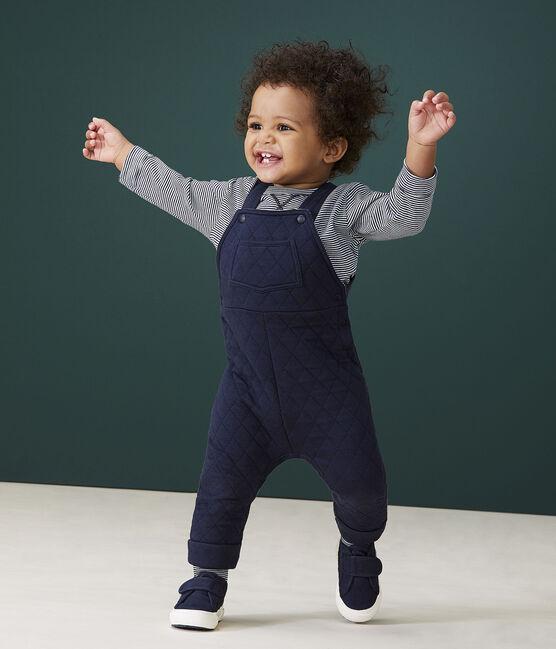 Salopette lunga bebè maschio blu Smoking